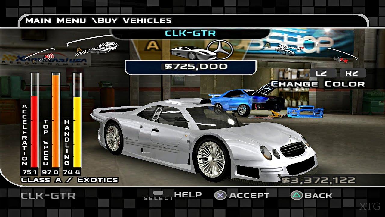 Midnight Club 3: DUB Edition Remix - All Cars List PS2 Gameplay HD (PCSX2)