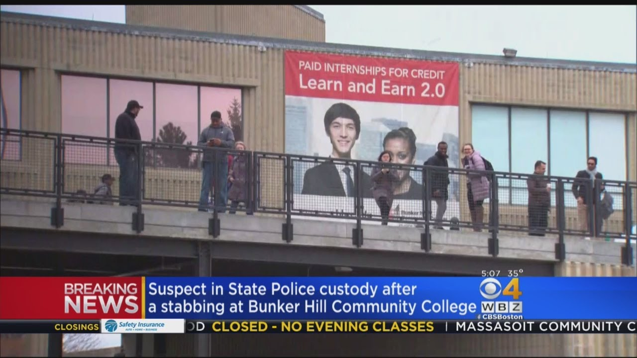Suspect In Custody After Stabbing At Bunker Hill Community College