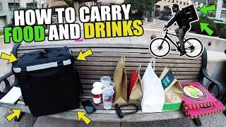 How To Carry Food and Drinks as a Bike Food Courier - UberEats, DoorDash, Caviar, Postmates, GrubHub