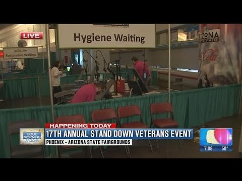 Maricopa County hosts event offering free services to homeless veterans in Phoenix