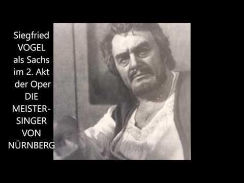 """Siegfried Vogel als Hans Sachs im 2. Akt """"Meistersinger"""" (Toronto 1985)"""