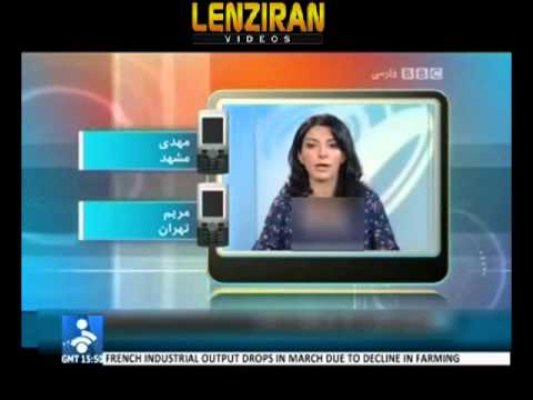 Iranian TV censor BBC presenter breasts and discredit BBC & VOA with fabricated pretexts !