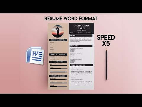 New Resume Template #1 | Free Download | MS Word 2010
