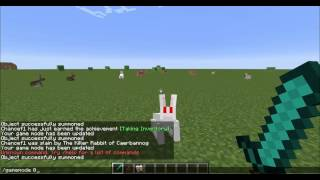 Minecraft How To Spawn The Killer Rabbit In 1.8