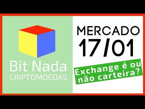 Mercado de Cripto! 17/01 Bitcoin / AE / XRP / Exchange: É ou não é carteira?
