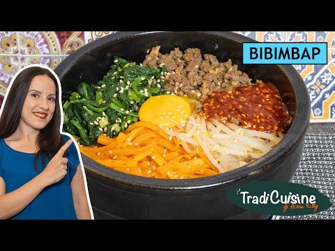 bibimbap-(recette-coréenne)---riz,-légumes-et-viande-hachée---recette-simplifiée