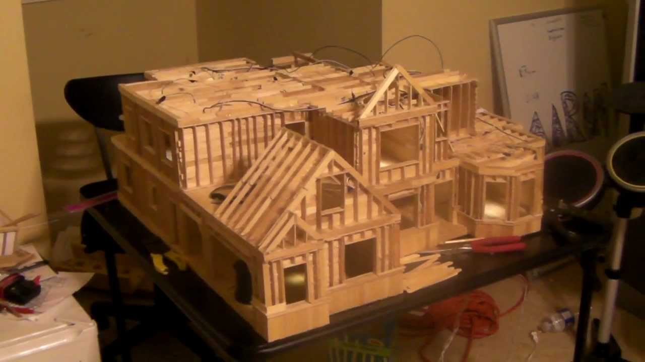20 building popsicle stick house youtube for Things to include when building a house