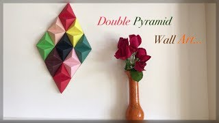 Paper Pyramid Wall Decor / DIY / Origami Double Pyramid | Priti Sharma