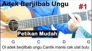 Belajar gitar adek berjilbab ungu (petikan) cara 1. jilbab biru. untuk pemula. tutorial petikan #2 https...