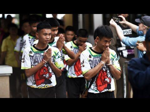 فرانس 24:Thai cave boys speak of 'miracle' rescue after hospital discharge