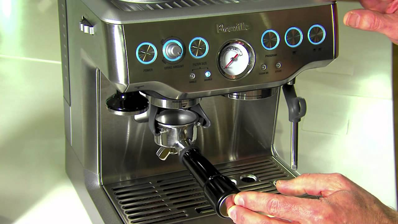 Breville Coffee Maker Stopped Working : Breville BES 870 Coffee Machine - YouTube