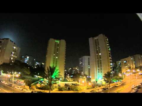 12/July/2014 - 21:07 p.m. Hamas' Massive Attack on Tel Aviv. 2 sirens in a row.