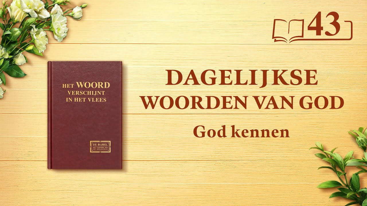 Dagelijkse woorden van God | Gods werk, Gods gezindheid en God Zelf II | Fragment 43