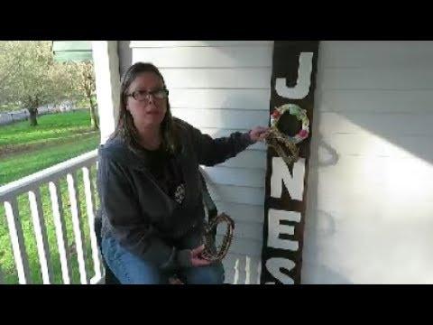 wood craft porch sign