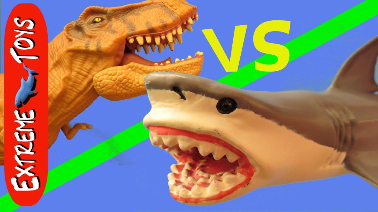 Shark Toys For Boys And Dinosaurs : Shark toys vs dinosaur the ultimate battle youtube