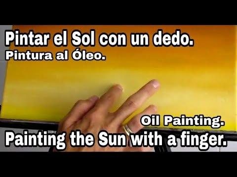 Pintar el Sol con un dedo.