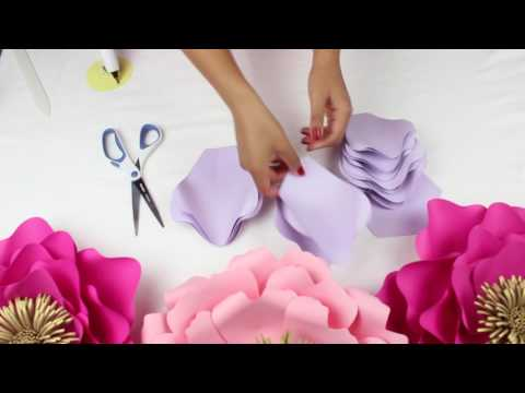DIY PAPER FLOWER BACKDROP | SPRING COLORS | TEMPLATE #13 FULL VIDEO