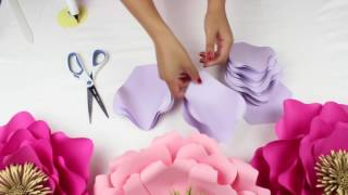 DIY PAPER FLOWER BACKDROP | SPRING COLORS | TEMPLATE #13 FULL VIDEO