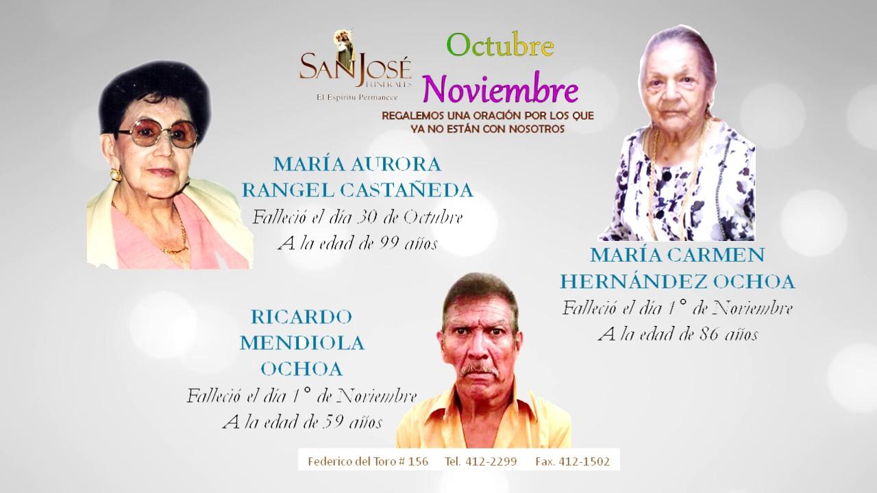 OBITUARIO FUNERALES SAN JOSE