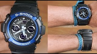 casio g shock aw 591 2a analog digital unboxing