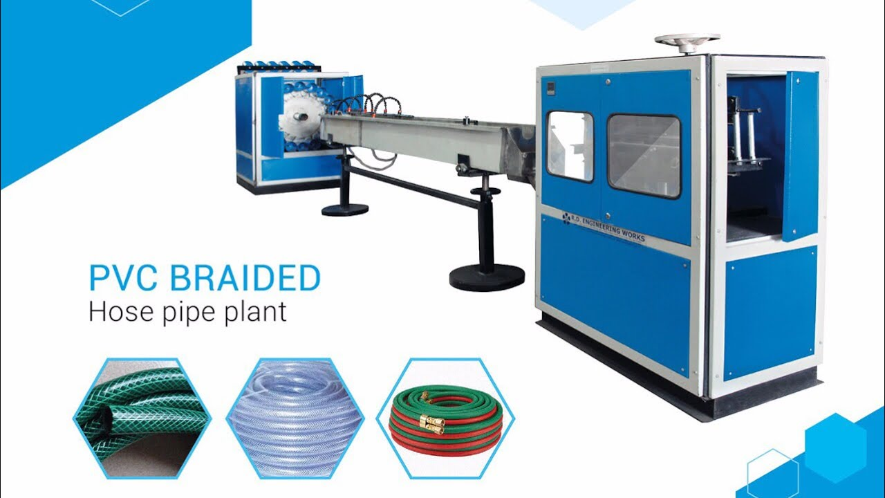 Pvc braided hose pipe making machine By R.D.Engineering ...