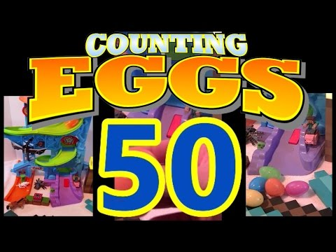 Counting 50 Surprise Eggs Minecraft and the Box of Adventure