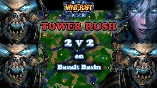 Grubby | Warcraft 3 The Frozen Throne | 2v2 UD&UD v UD&NE - Tower Rush - Basalt Basin