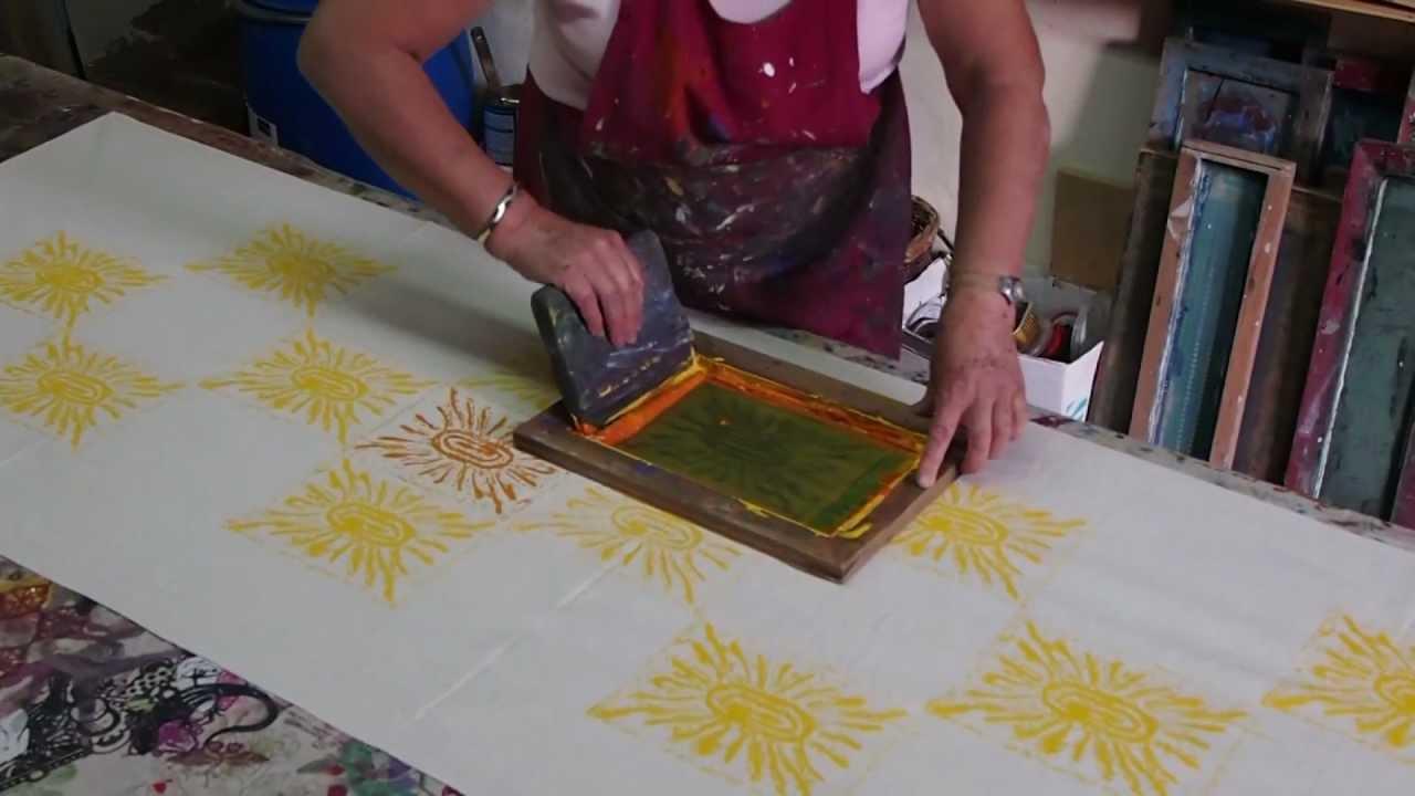 Assez Sérigraphie, impression sur tissu à la main, Seillans - YouTube PB75