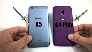 Lenovo vibe K5 vs Moto G4 play - Quem ganha?