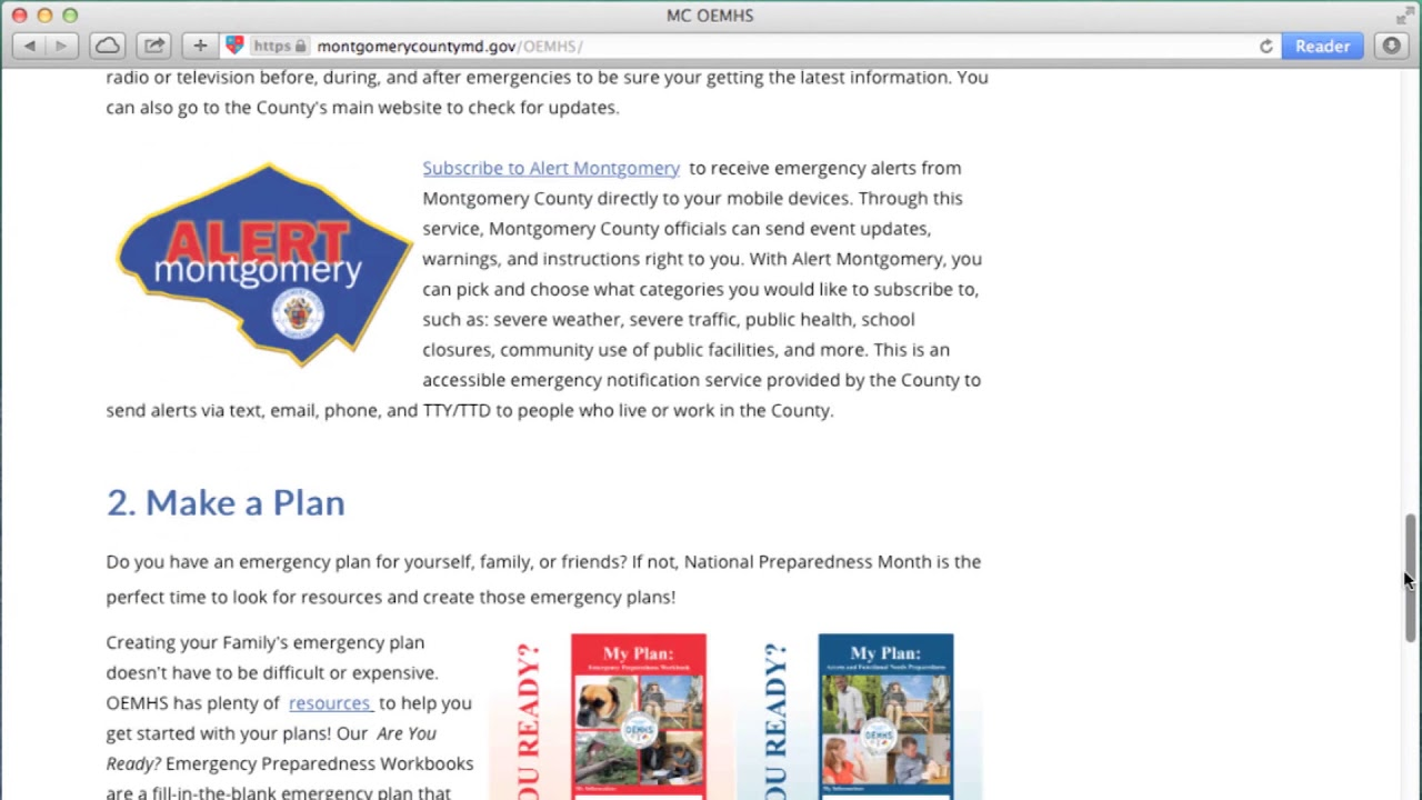 National Emergency Preparedness Month from CRTW 436