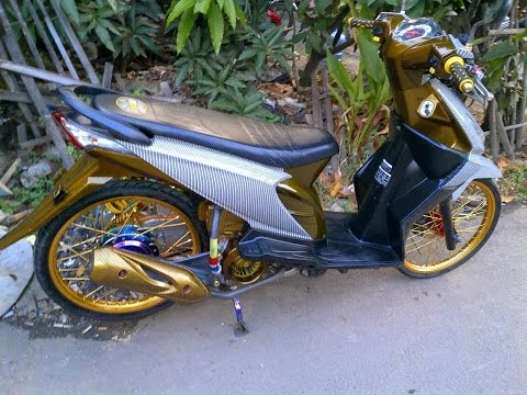 Motor Trend Modifikasi | Video Modifikasi Motor Honda Beat Airbrush Velg Jari-jari Ring 17 Ke 3