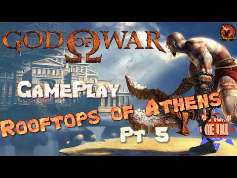 Let's Play God of War 1 - Full Walkthrough of Rooftops of Athens - GamePlay  Part 5