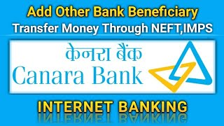 How to Add Beneficiary in Canara Bank Net Banking | Transfer Money Through Canara Bank Net Banking