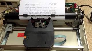 Brother HR-10 Daisywheel Printer connected to Tandy WP-3