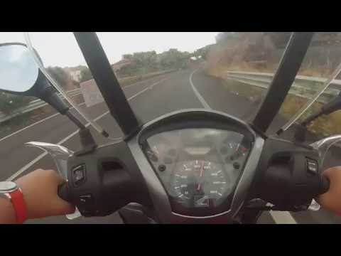 Sh 125i abs max speed (120 km/h)