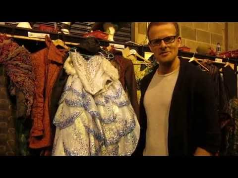 Backstage at Wicked's wardrobe village at the Edinburgh Playhouse