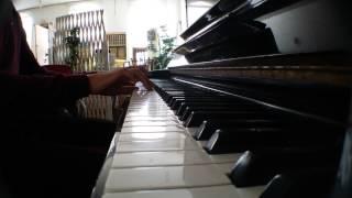 학교괴담 오프닝 주제가인 GROW UP(グロウアップ) 를 한번 피아노로 연...