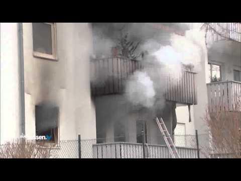 Mann stirbt bei Wohnungsbrand Erbach 04012014