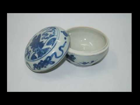 Late Ming Blue And White Bowl And Cover Box 明代