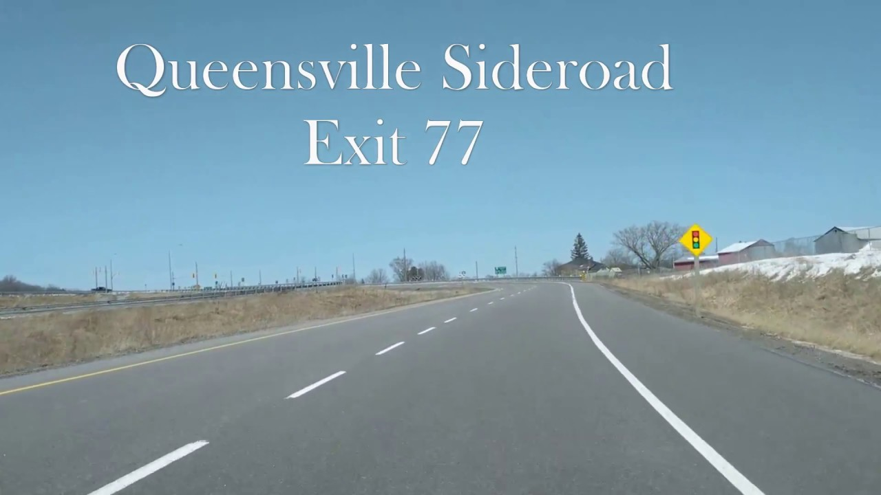 Download Driving North on the 404 Extension to Queensville Sideroad