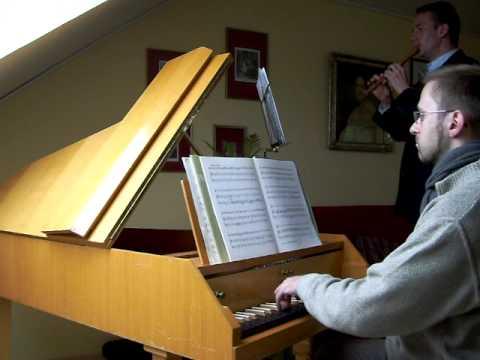 Dieupart Francois (Charles) , Menuet en Rondeau aus der Suite Nr. 5 in F-Dur