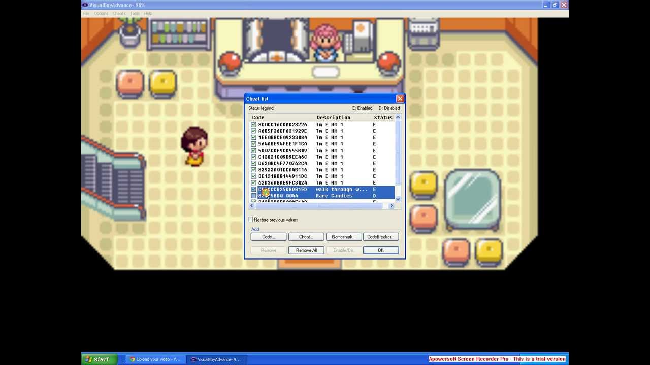 how to use gameshark codes on emulator