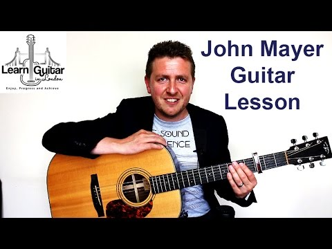 John Mayer - Your Body Is a Wonderland - Easy Guitar Lesson - Drue ...