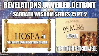 WISDOM Series: 75 Pt. 2.  PROPHECY & PRAYER.