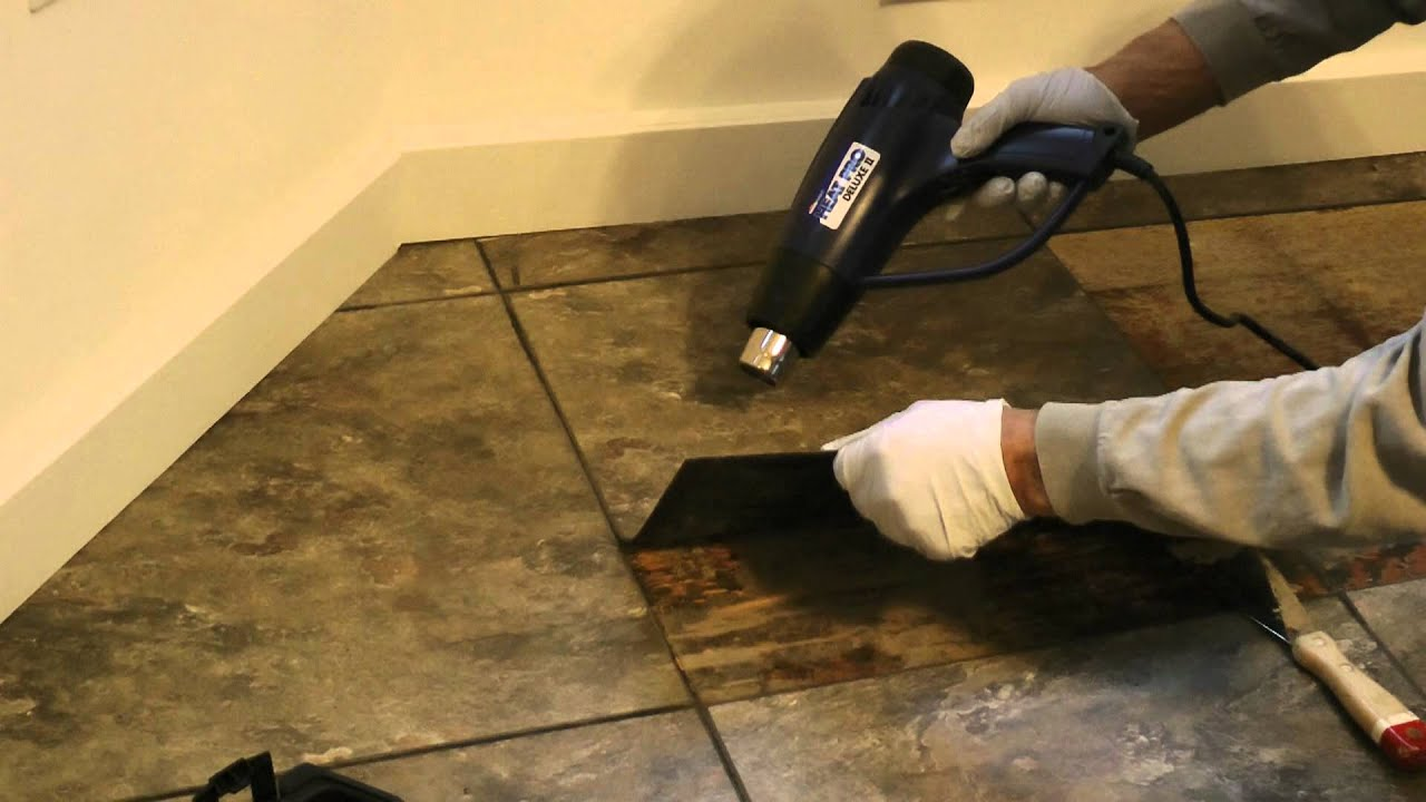 Remove Floor Tile 2 - YouTube