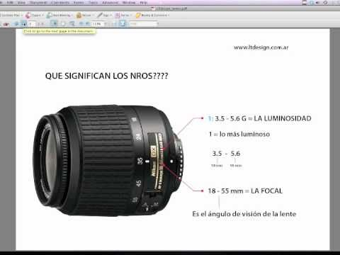 c2441a9288 Tutorial de Fotografía: Las lentes, que significan los nros. en las lentes?