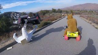 Extreme Downhill Powerwheels Battle