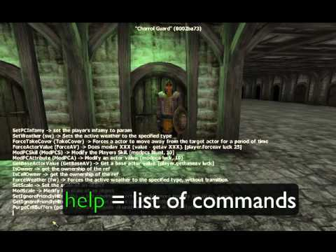 <b>Oblivion</b> Best Console <b>Command Cheats</b> ALL WEAPONS/ARMOR/EVERYTHING ...
