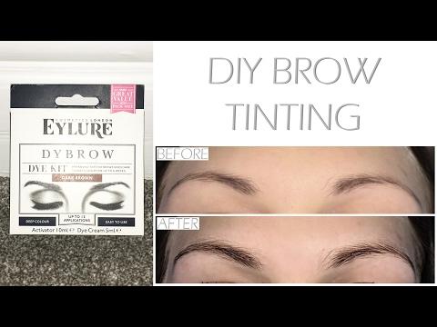 bd35baebd63 DIY Eyebrow Tinting With Eylure Pro-Brow Dybrow in Dark Brown! - YouTube