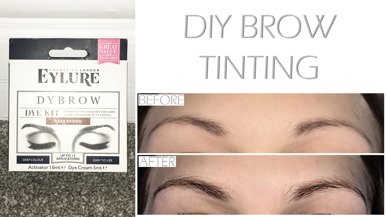 Diy Eyebrow Tinting With Eylure Pro Brow Dybrow In Dark Brown Youtube